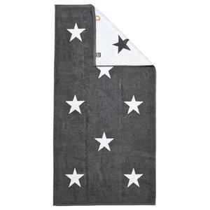 Stars Beach Towel, Anthracite and White