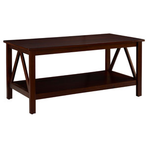 8006fa75aa4a Aico Freestanding Brighton Rectangular Cocktail Table FS-BRGTN201 459. Pine  and MDF Coffee Table