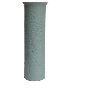 Chinese Porcelain Celadon Green Column Vase