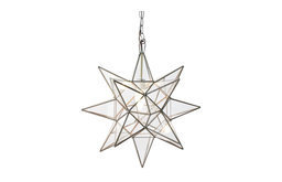 Clear Star Chandelier, Small