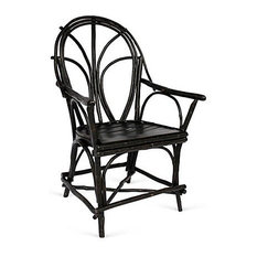 Genesee River - Penobscot Twig Chair, Black - Armchairs and Accent Chairs