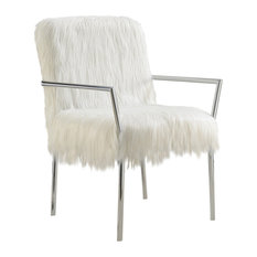 Coaster Contemporary White Accent Chair