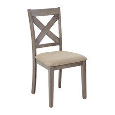 Progressive Furniture - Saxton Dining Chairs, Set of 2, Mystic Gray - Dining Chairs
