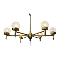 Noir Furniture Leslie Chandelier, Antique Brass