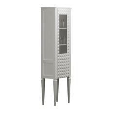Diamond Linen Cabinet, White
