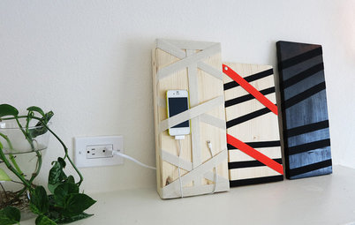 Hide All Those Wires in a DIY Charging Station