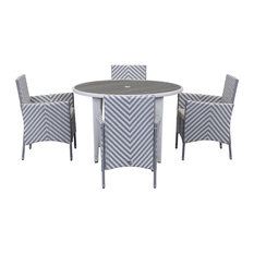 Safavieh Montenegro Outdoor Living Set, 5-Piece, Grey and White