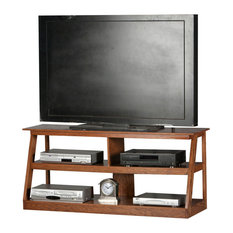 Eagle Furniture 55-inch Open Entertainment Console Dark Oak