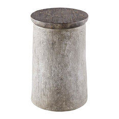 Progressive Furniture   Progressive Furniture Rocco Chairside Table,  Concrete U0026 Raisin   Side Tables And