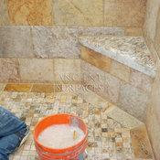 Stone Installation of Bathroom Shower Walls and Floors
