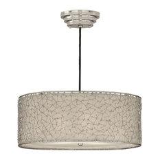 uttermost uttermost brandon silver 3 light drum pendant pendant lighting - Drum Pendant Lighting