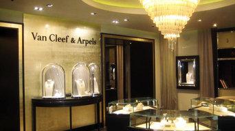 Полы и стены для бутика Van Cleef & Arpels
