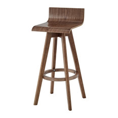 Tori, Mid-Century Modern Swivel Stool, Set of 2, Walunt, 29""