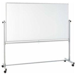 "Offex Mobile Dry Erase Magnetic Double-Sided White Board - 72""W x 40""H"