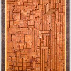 panel con piezas de madera paneles de pared - Paneles De Pared