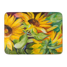 Sunflowers Machine Washable Memory Foam Mat