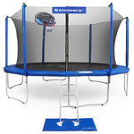 SONGMICS - SONGMICS Outdoor Trampoline for Kids with Basketball Hoop and Backboard, 15ft - ASTM & GS CERTIFICATED: This outdoor trampoline is approved by TÜV Rheinland according to ASTM and GS standard to be safe and reliable for children
