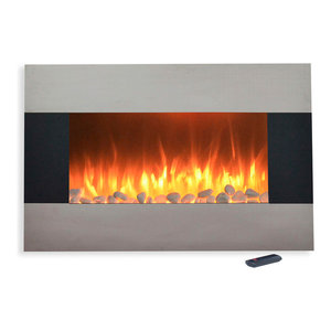 Fabulous Wall Mounted Electric Fireplace With Remote Stainless Steel Download Free Architecture Designs Intelgarnamadebymaigaardcom