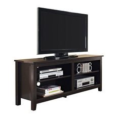 "Walker Edison - 58"" Espresso Wood TV Stand Console - Entertainment Centers and Tv Stands"