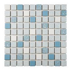 "11.75""x11.75"" Scholar Porcelain Mosaic Floor/Wall Tile, Blue"