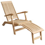 Niagara Furniture - Teak Deck Chair - A solid teak adjustable deck chair, the Niagara Teak Deck Chair is suitable for use either indoors or outdoors. Originally designed for use on the decks of passenger vessels the steamer/deck chair has become a favorite for relaxing in the backyard or by the pool. The adjustable back allows for numerous seated positions while the wider than usual timbers in the back and the seat of the chair make the Niagara Teak Deck Chair comfortable even without cushions.