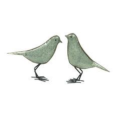 Metal Bird Figurines, Set of 2