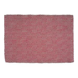 Gåsöga Jute Door Mat, Red, 90x60 cm