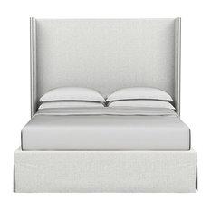 Kaiser Linen Box Bed, Blanc, Twin