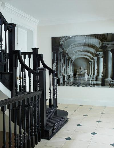 Contemporary Hall Holland Park Apartment