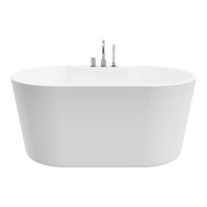 """Retro Pure Acrylic 56"""" All in One Oval Freestanding Tub Kit"""