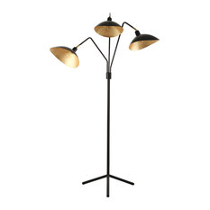 "Safavieh Iris 69.5""H Floor Lamp, Black"