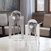 Uttermost Ellianna Silver Sculpture, 2-Piece Set