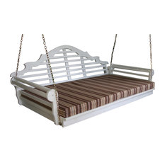 """6' Swing Bed Cushion, 4"""" Thickness, Gray Stripe"""