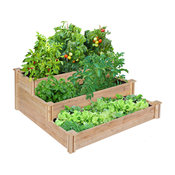 Greenes 3-Tiered Original Cedar Raised Garden Bed, 4'x4'x21""