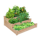 Linnaeus Cedar 3-Tiered Raised Garden Bed