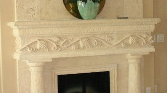 Cast Coral Keystone Fireplace