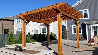 Elmhurst pergola , custom back yard