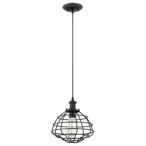 Craftmade P340MBK1 1 Light Mini Pendant With Cord In Matte Black