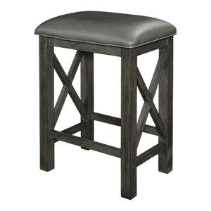 Wondrous Powell Jackson Counter Stool With Brown Finish D1167B18Cs Inzonedesignstudio Interior Chair Design Inzonedesignstudiocom