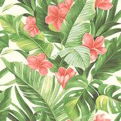 NuWallpaper by Brewster NU2926 Tropical Paradise Peel & Stick Wallpaper