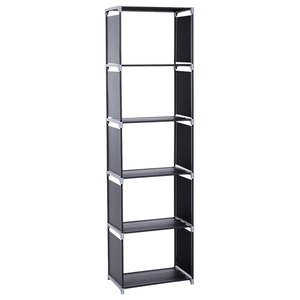 Modern Steel Bookcase Organizer With Multiple Open Compartment