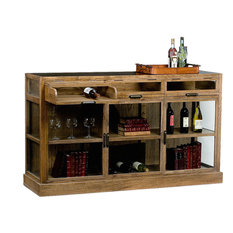 Rustic Wine Cabinets   Houzz