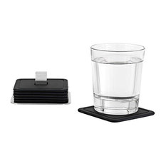 Trayan Coasters by Blomus, Set of 6, Black