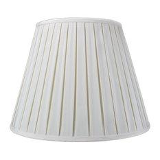 "Empire Box Pleat Egg Shell Deluxe Lamp Shade 11""x18""x13.5"