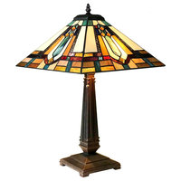 ARCHIE Tiffany-Style Mission Stained Glass Table Lamp, 24""