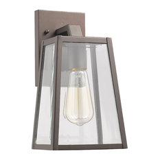 """Leodegrance 1 Light Outdoor Wall Sconce 11"""" High, Rubbed Bronze"""