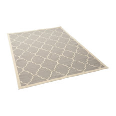 GDF Studio Duncan Outdoor Geometric Area Rug, Gray and Ivory, 8'x11'