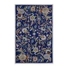 St. Croix Trading   Traditions Paradise Rug, Blue, 5u0027x8u0027