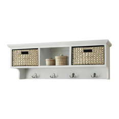 Newport Three Basket Storage Shelf, Cream