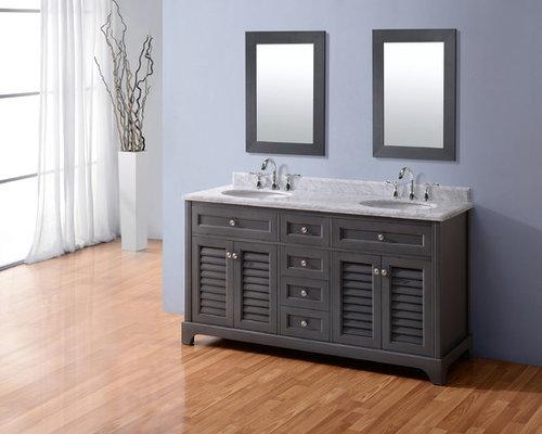 60 Madison Bathroom Vanity French Grey Vanities And Sink Consoles